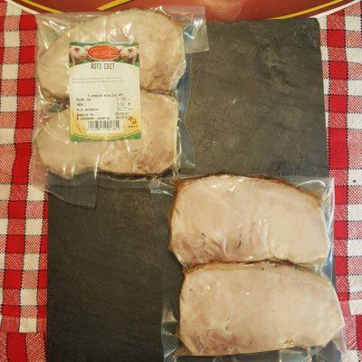 Tranches de rôti cuit sous vide